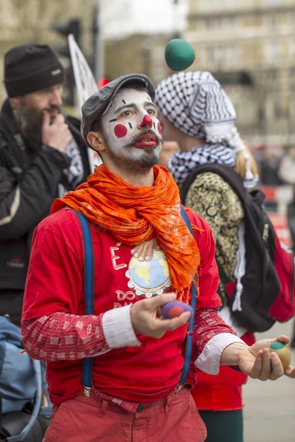 Anti-austeridad marzo fotografía de archivo libre de regalías