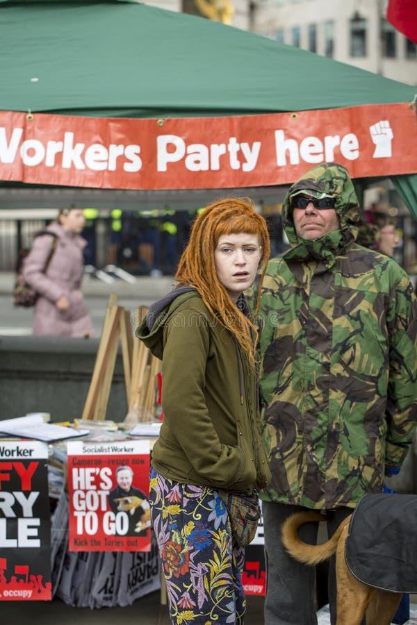 Anti-austeridad marzo foto de archivo