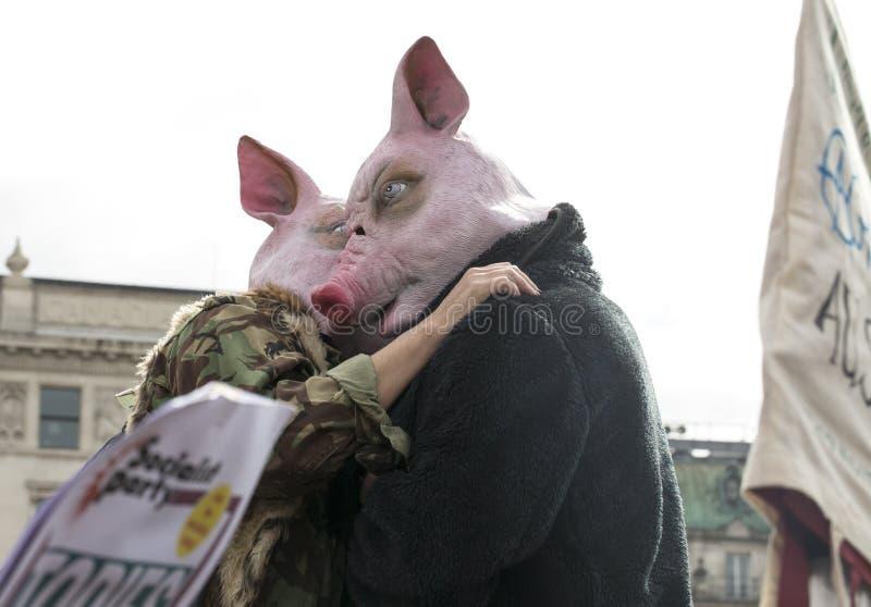 Anti-austeridade março imagens de stock