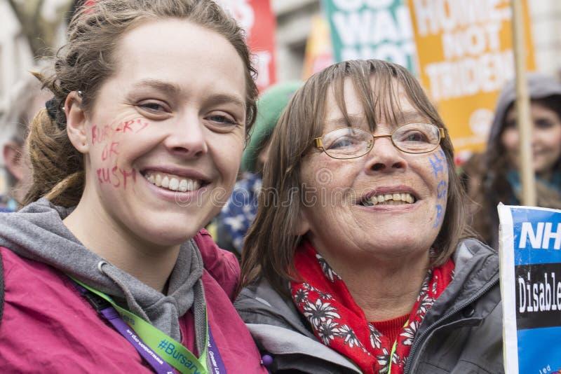 Anti-austerità marzo immagini stock libere da diritti