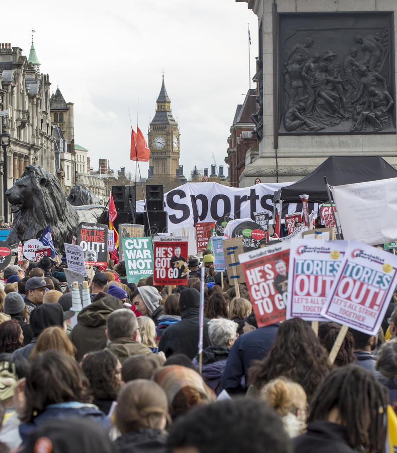 Anti-Austerity March. stock images