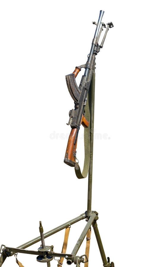 Anti aviação machine-gun fotos de stock