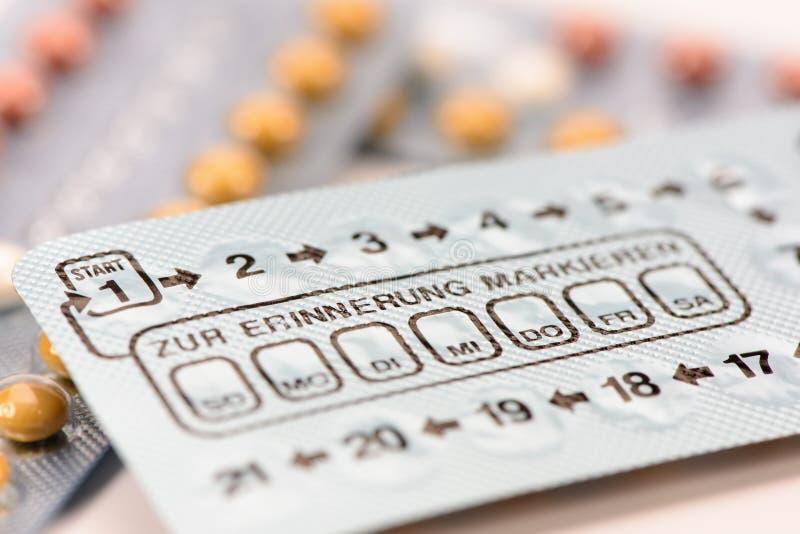 Anti-Baby-Pillen stockbild