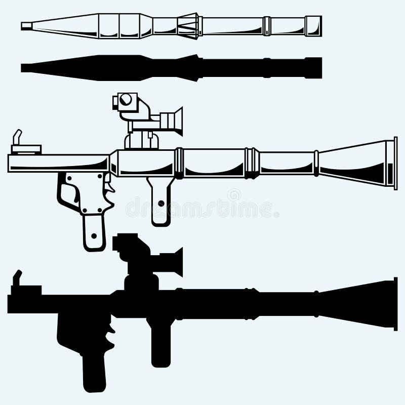 Anti--behållaren raket framdrev granatlauncheren - RPG 7 vektor illustrationer