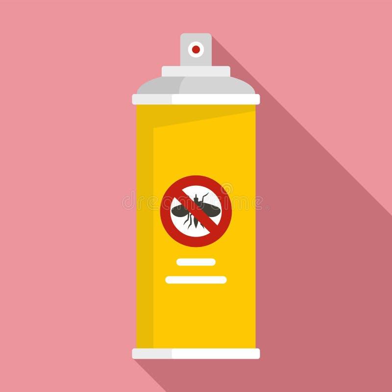 Anti bombe l'icône, style plat illustration stock