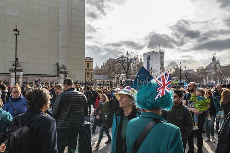 Anti Brexit Protest In Westminster London royalty free stock photo