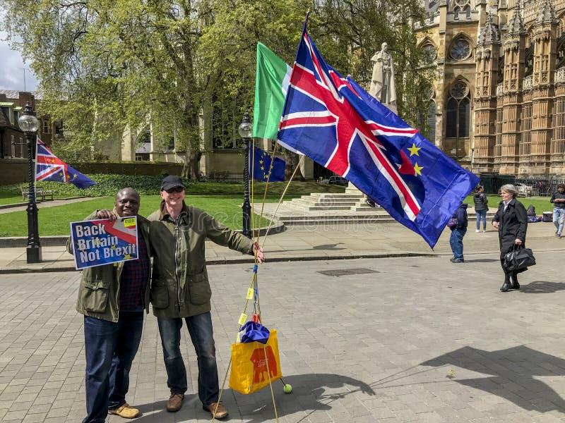 Anti--Brexitperson som protesterar i London arkivfoto