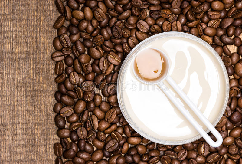Anti-cellulite cosmetics with caffeine royalty free stock photography