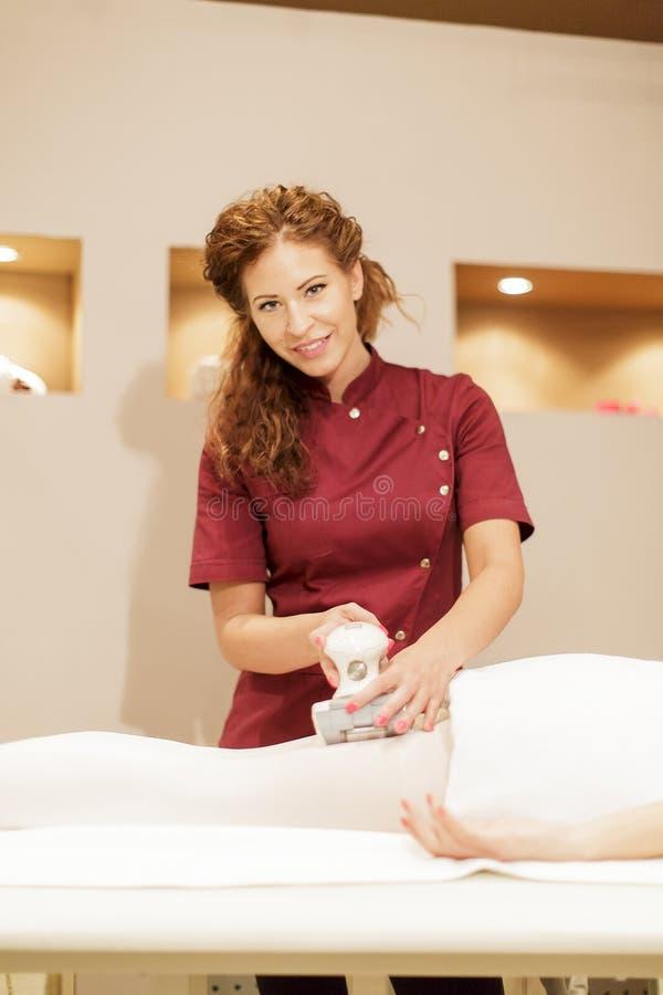 Anti cellulite treatment stock photo