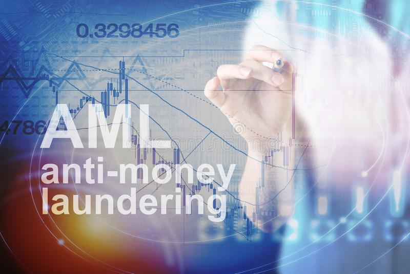 Anti concept de blanchiment d'argent et x28 ; AML& x29 ; photos libres de droits