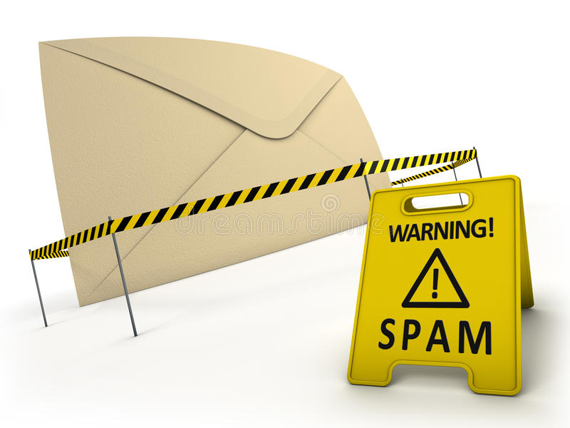 Anti concept de Spam illustration libre de droits