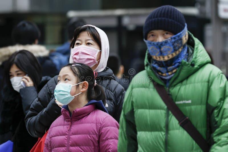 Anti-coronavirus prevention measures in Tokyo royalty free stock images
