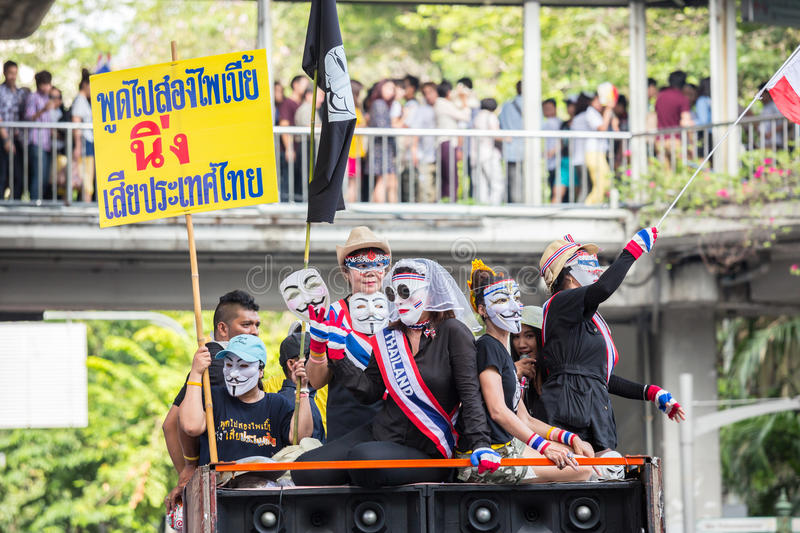 Anti corruzione di Guy Fawkes in Tailandia fotografia stock