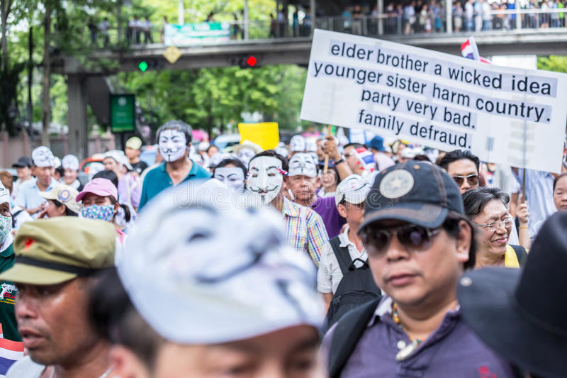 Anti corruzione di Guy Fawkes in Tailandia fotografia stock