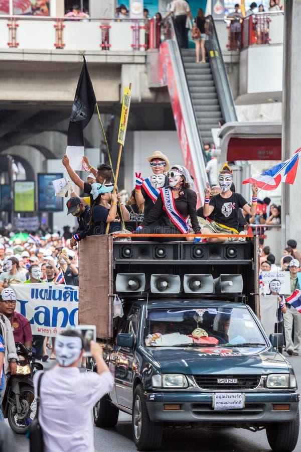 Anti corruzione di Guy Fawkes in Tailandia immagine stock