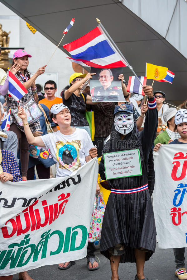 Anti corruzione di Guy Fawkes in Tailandia immagini stock libere da diritti