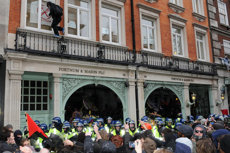 Anti-Cuts Protest In London Editorial Image