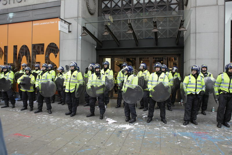 ANTI-CUTS Protest IN LONDON stockfoto