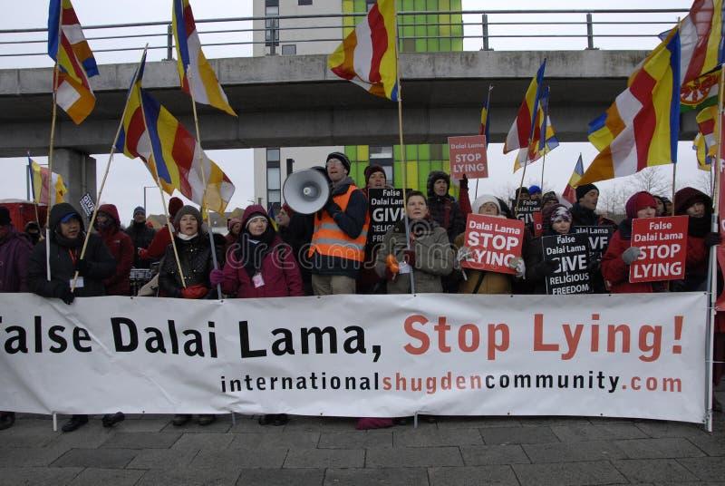 ANTI DALAI LAMA PROTEST. Copenhagen-Denamrk International Shugden community Representatives staged anti Dalai Lama protest rally in Copenhagen these Dalai Lama stock photos