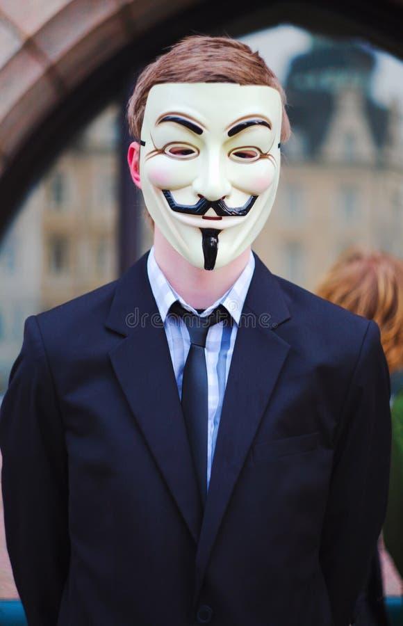 Anti demonstração da ACTA foto de stock