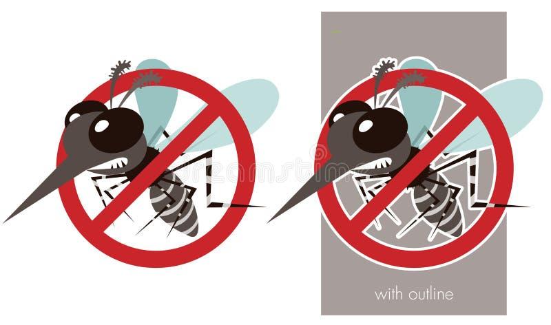 Anti dengue ilustração royalty free