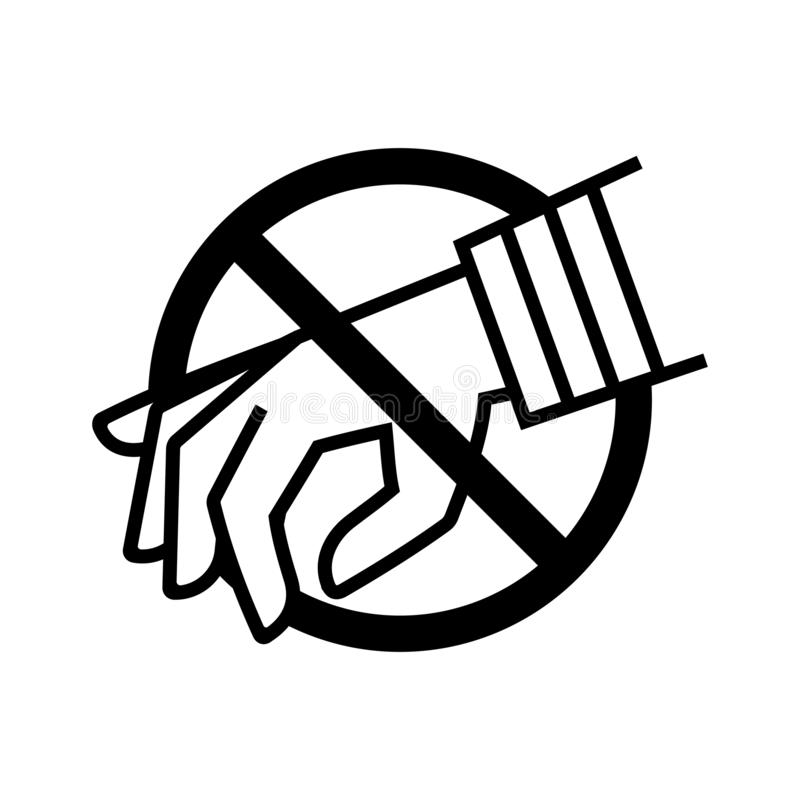 Anti-diefstal pictogram vector illustratie