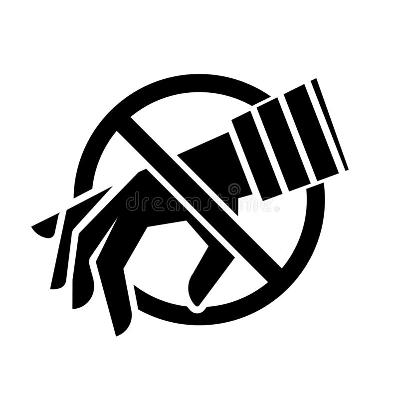 Anti-diefstal pictogram stock illustratie