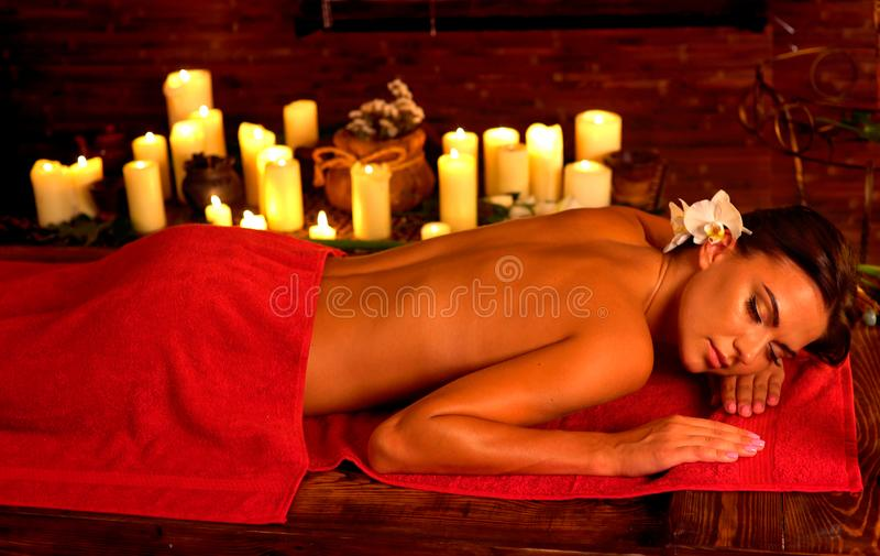 Anti discomfort lymphatic massage for tired body royalty free stock photo