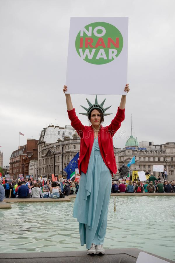 Anti Donald Trump Protesters à Londres centrale images stock