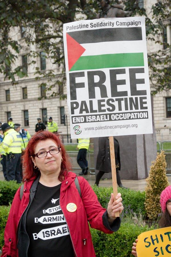 Anti Donald Trump Protesters à Londres centrale photographie stock