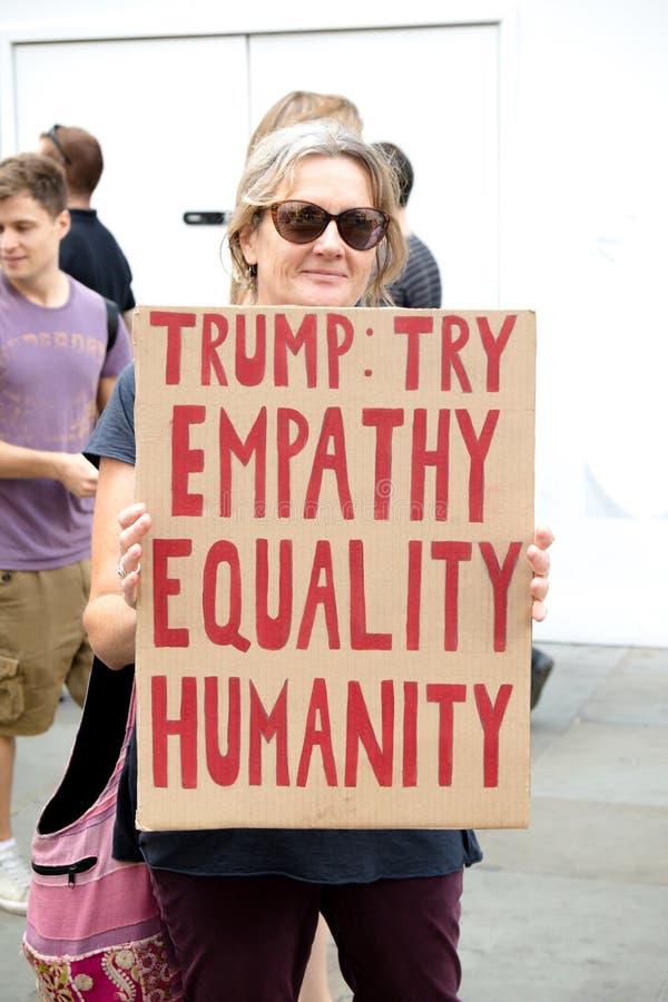 Anti Donald Trump Rally à Londres centrale image libre de droits