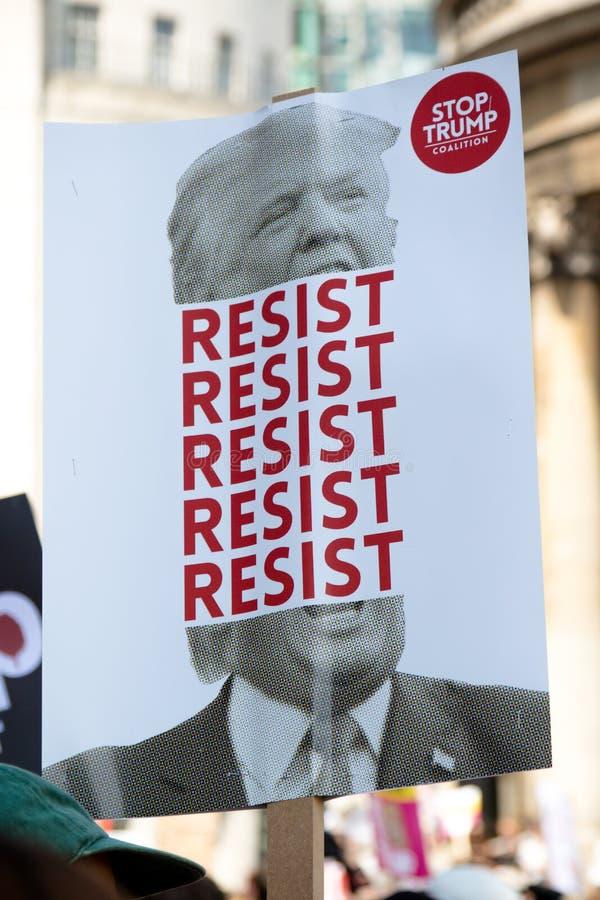 Anti Donald Trump Rally à Londres centrale photo stock
