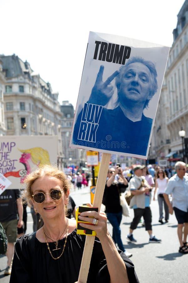 Anti Donald Trump Rally à Londres centrale photographie stock