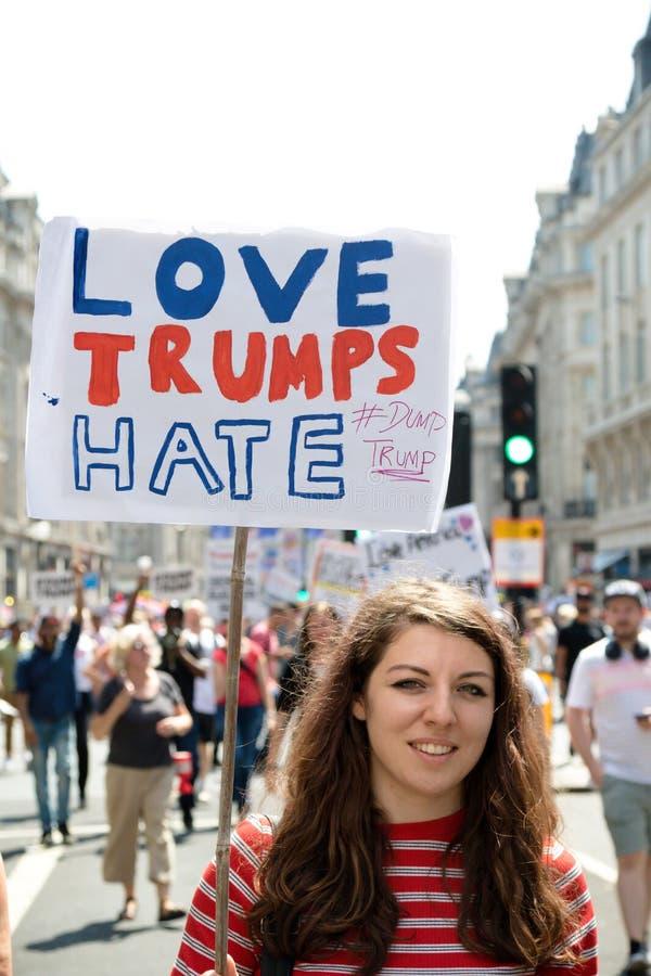 Anti Donald Trump Rally à Londres centrale photo libre de droits