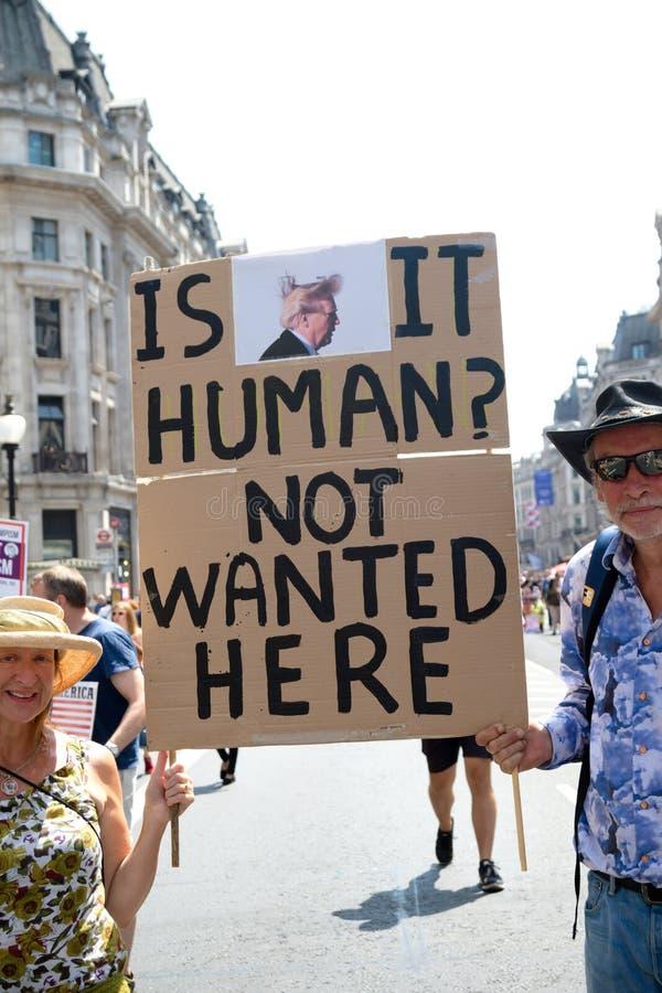 Anti Donald Trump Rally à Londres centrale photos stock