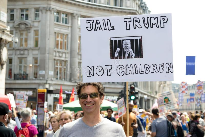 Anti Donald Trump Rally à Londres centrale images stock