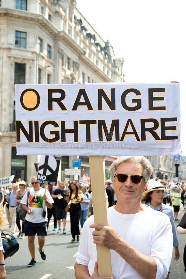 Anti Donald Trump Rally à Londres centrale image stock
