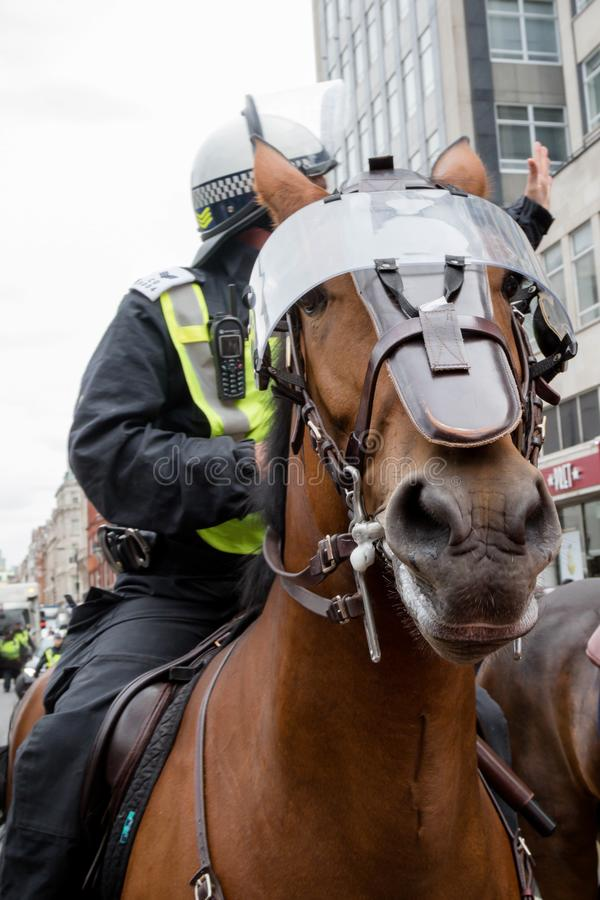 Anti fascist protests in London stock photos