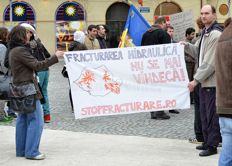 Anti Fracking Demonstration and against Rosia Montana Gold Corporation
