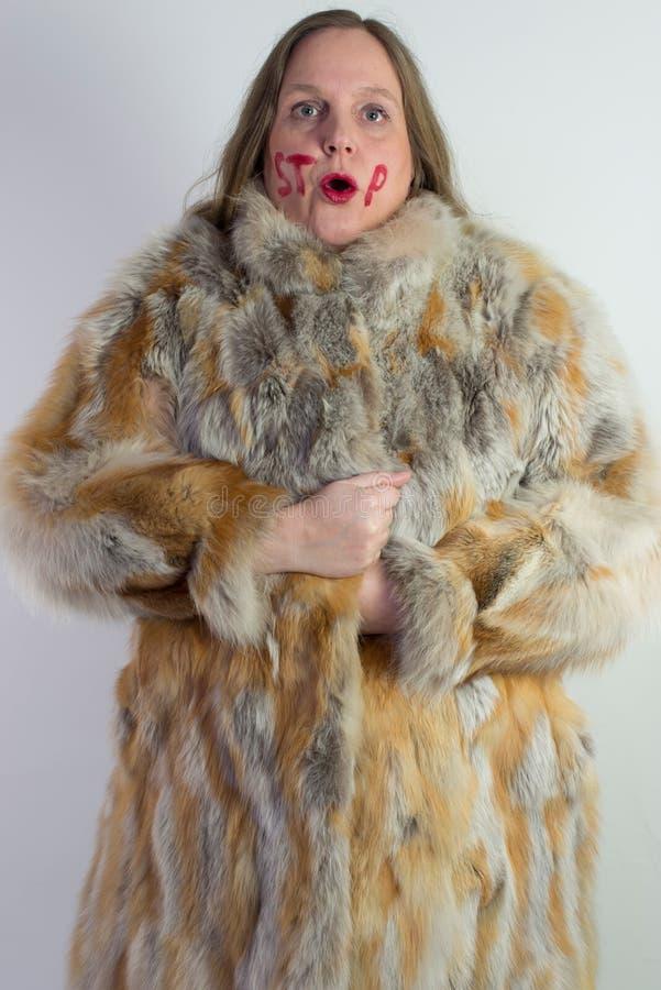 Anti Fur Stock Photo