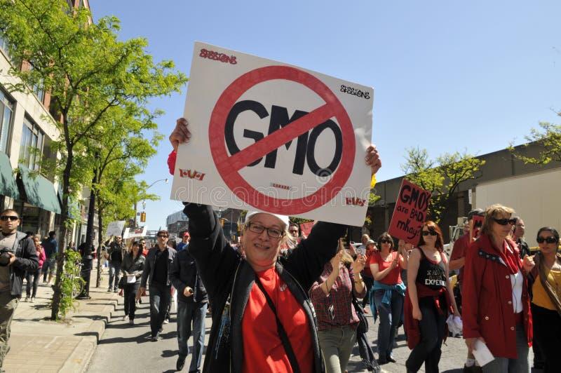 Anti GMO rally. stock image