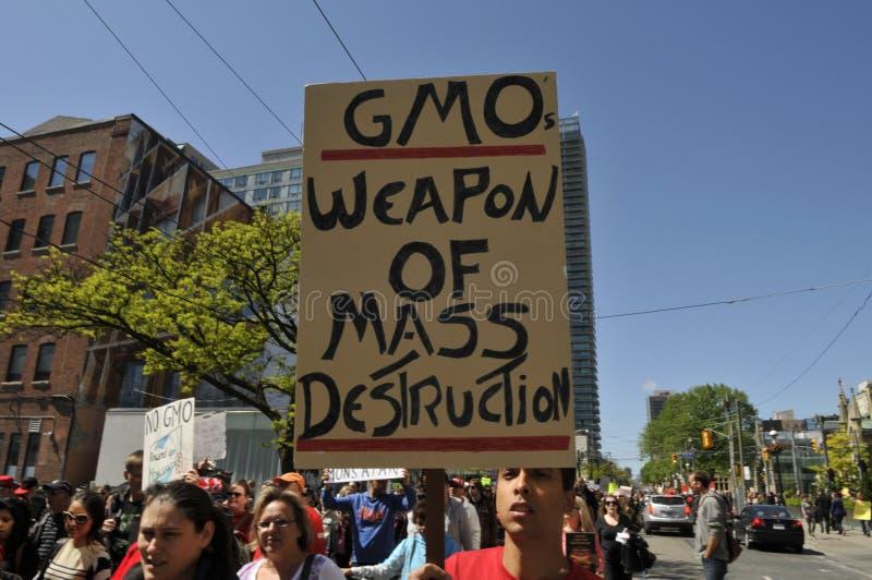 Anti-GMO samlar. arkivbilder