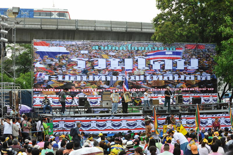 Download Anti-Government People's Army Group Rally In Bangkok Editorial Photography - Image: 32724127