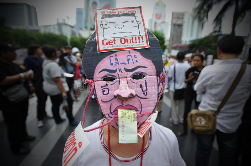 Download Anti-Government Protest In Bangkok Editorial Photography - Image: 32420487