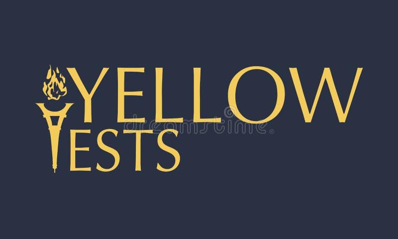 Yellow vests text stock illustration