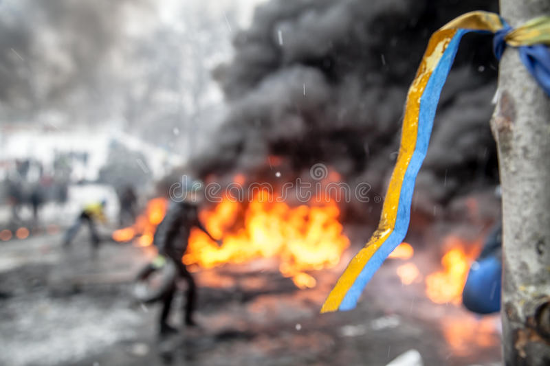 Anti-government protests outbreak Ukraine royalty free stock image