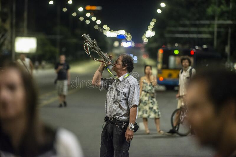 Anti-government protests in Sofia continue royalty free stock photos