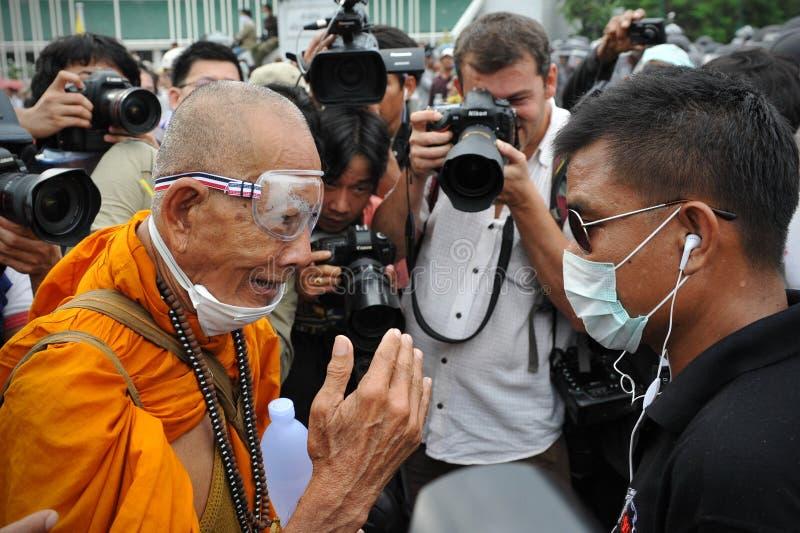 Anti-Government Verzameling In Bangkok Redactionele Fotografie