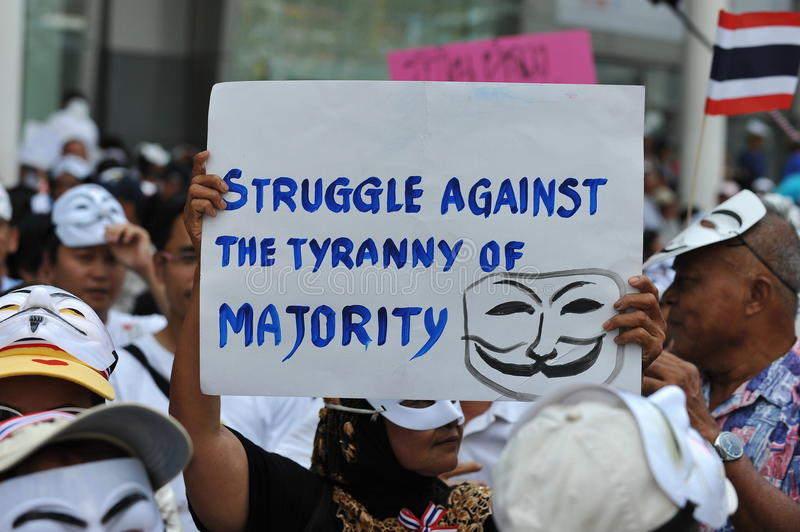 Download Anti-Government White Mask Protest In Bangkok Editorial Image - Image: 31960610