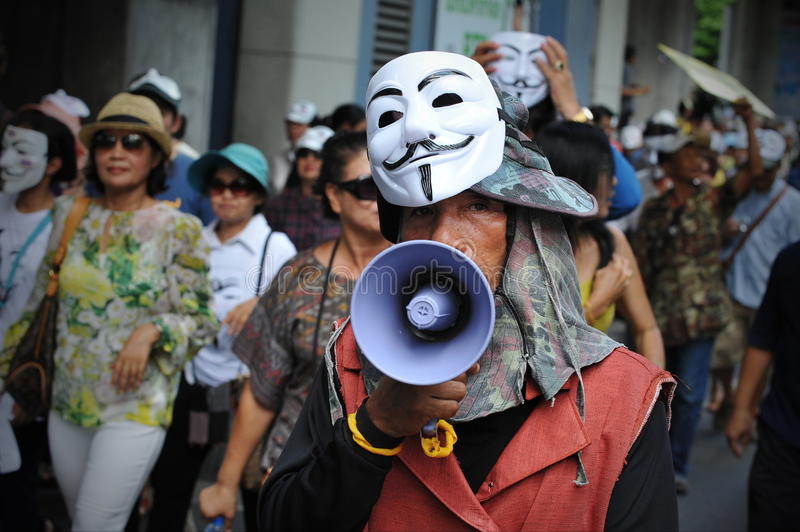 Download Anti-Government White Mask Protest In Bangkok Editorial Stock Photo - Image: 31962173